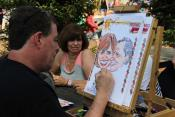 Caricature Artist on Custom Mats!
