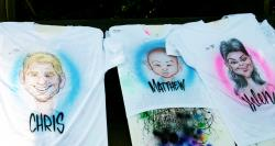 Air Brush Caricature T-Shirts